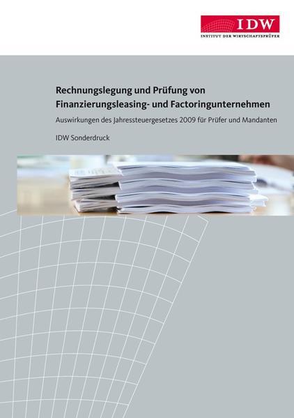 Rechnungslegung und Prüfung von Finanzierungsleasing- und Factoringunternehmen - Coverbild