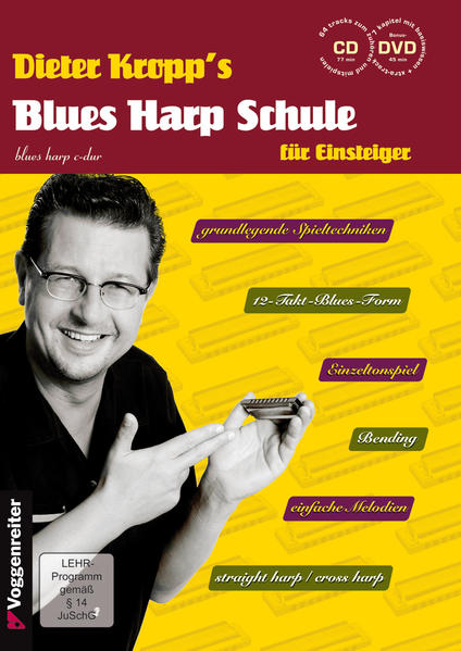 Dieter Kropp's Blues Harp Schule - Coverbild