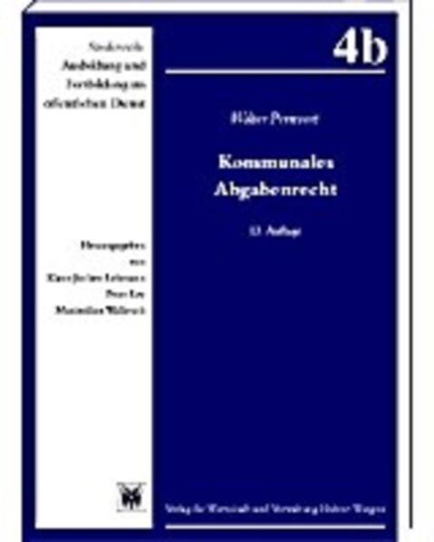 Kommunales Abgabenrecht - Coverbild