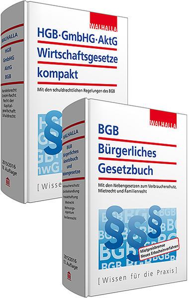 Kombi-Paket BGB Bürgerliches Recht + HGB, GmbHG, AktG, Wirtschaftsgesetze kompakt - Coverbild