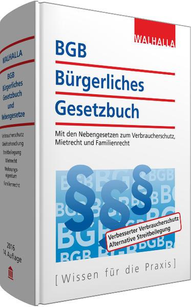 BGB - Bürgerliches Gesetzbuch Ausgabe 2016 - Coverbild