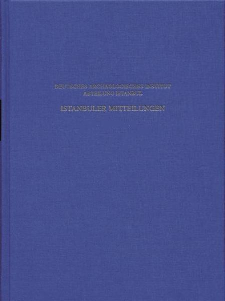 Istanbuler Mitteilungen / Istanbuler Mitteilungen - Coverbild