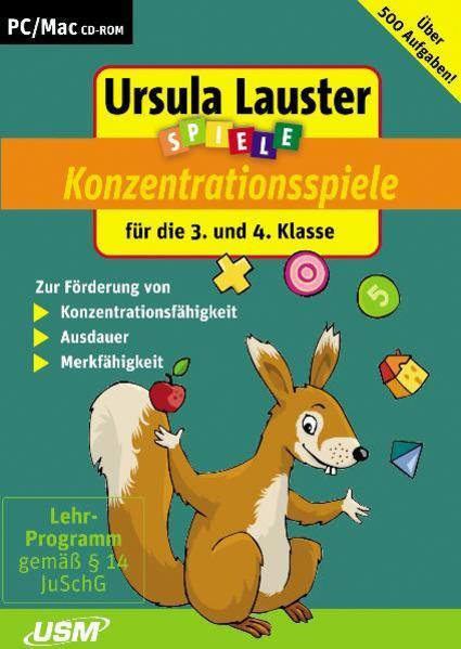 Ursula Lauster: Neue Konzentrationsspiele für die 3. und 4. Klasse - Coverbild