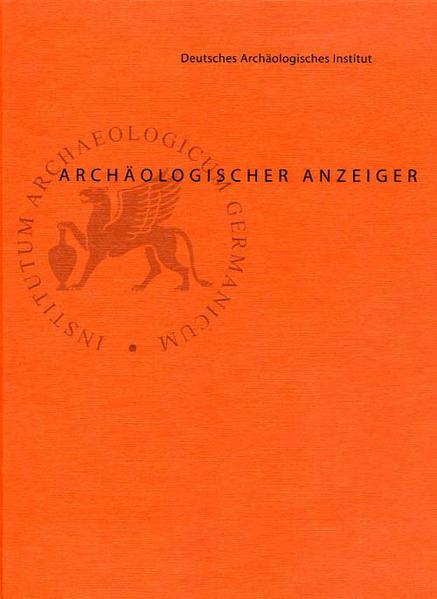 Archäologischer Anzeiger - Coverbild