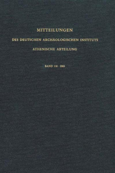 Mitteilungen des Deutschen Archäologischen Instituts. Athenische Abteilung - Coverbild