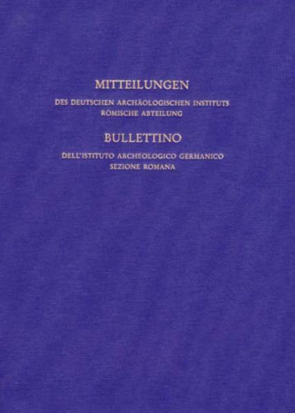 Mitteilungen des Archäologischen Instituts Römische Abteilung - Coverbild