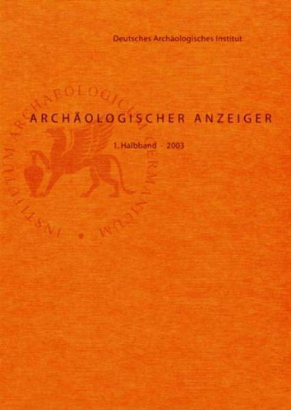 Archäologischer Anzeiger / Archäologischer Anzeiger - Coverbild
