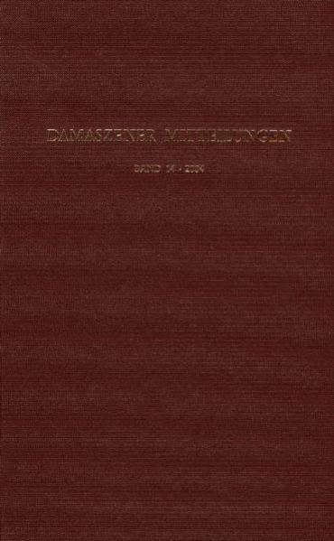 Damaszener Mitteilungen - Coverbild