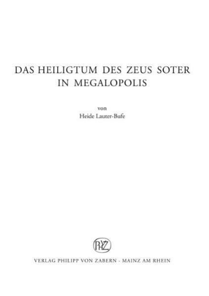 Das Heiligtum des Zeus Soter in Megalopolis - Coverbild