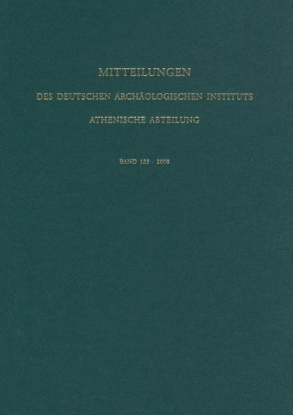 Mitteilungen des Deutschen Archäologischen Instituts, Athenische Abteilung - Coverbild