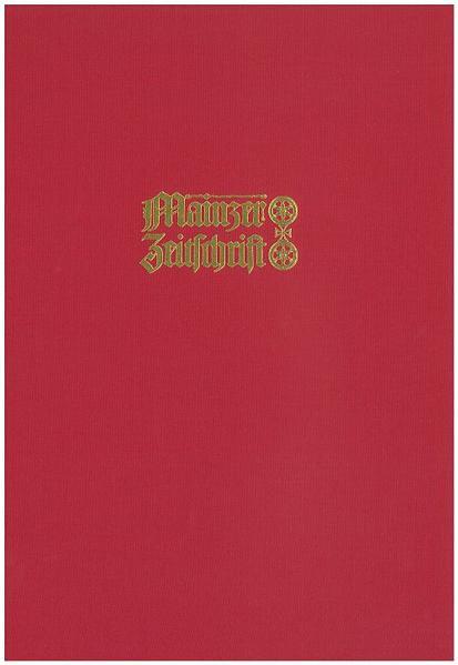 Mainzer Zeitschrift. Mittelrheinisches Jahrbuch für Archäologie, Kunst und Geschichte / Mainzer Zeitschrift - Coverbild