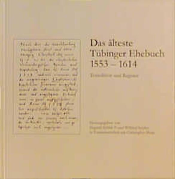 Das älteste Tübinger Ehebuch (1553-1614) - Coverbild
