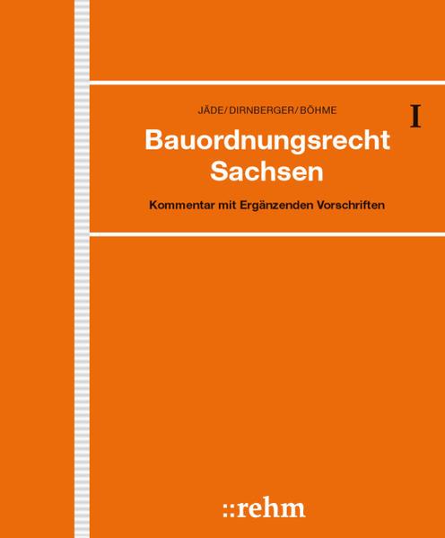 Bauordnungsrecht Sachsen - Coverbild
