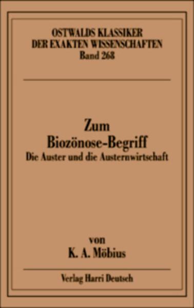 Zum Biozönose-Begriff (Möbius) - Coverbild