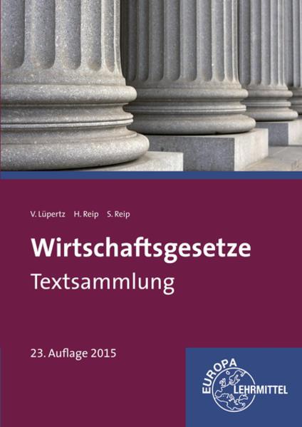 Wirtschaftsgesetze Textsammlung - Coverbild