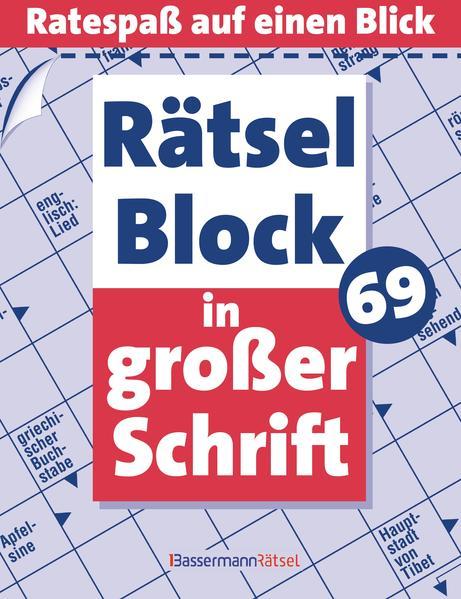 PDF Download Rätselblock in großer Schrift 69 - 5er VE