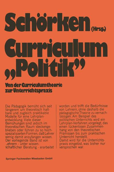 Curriculum »Politik« - Coverbild