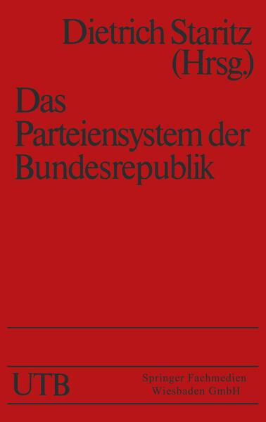 Das Parteiensystem der Bundesrepublik - Coverbild