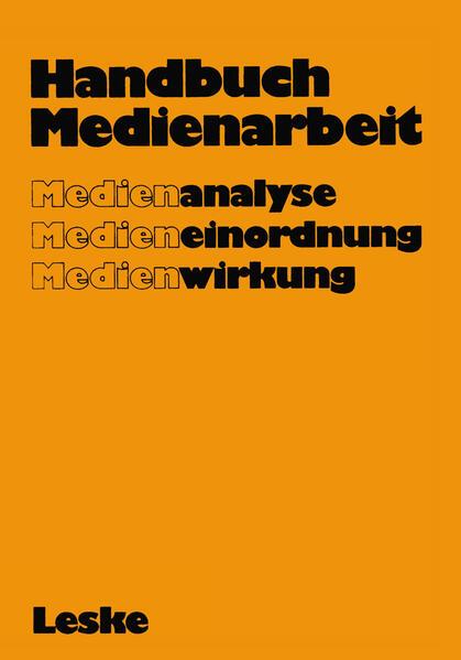 Handbuch Medienarbeit - Coverbild