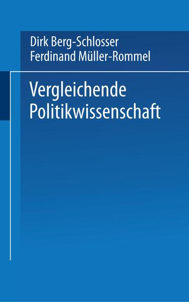 Vergleichende Politikwissenschaft - Coverbild
