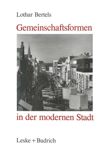 Gemeinschaftsformen in der modernen Stadt - Coverbild
