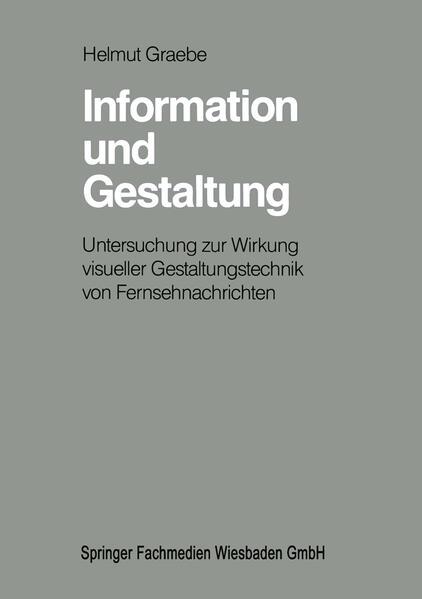 Information und Gestaltung - Coverbild