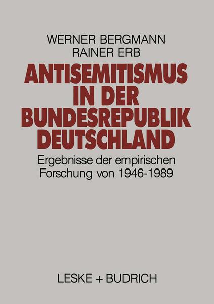 Antisemitismus in der Bundesrepublik Deutschland - Coverbild