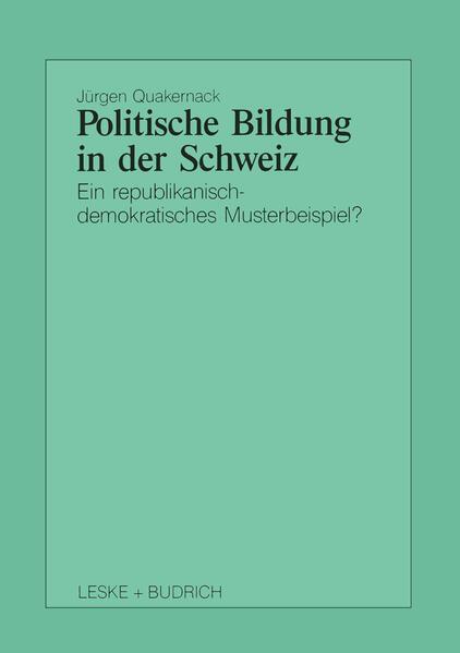 Politische Bildung in der Schweiz - Coverbild
