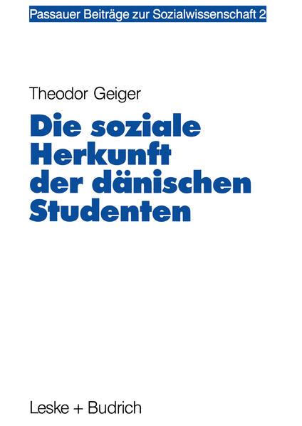 Die soziale Herkunft der dänischen Studenten - Coverbild