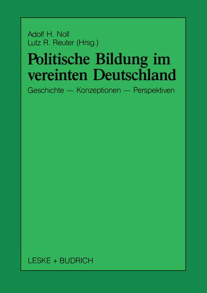 Politische Bildung im vereinten Deutschland - Coverbild