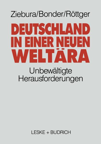 Deutschland in einer neuen Weltära - Coverbild