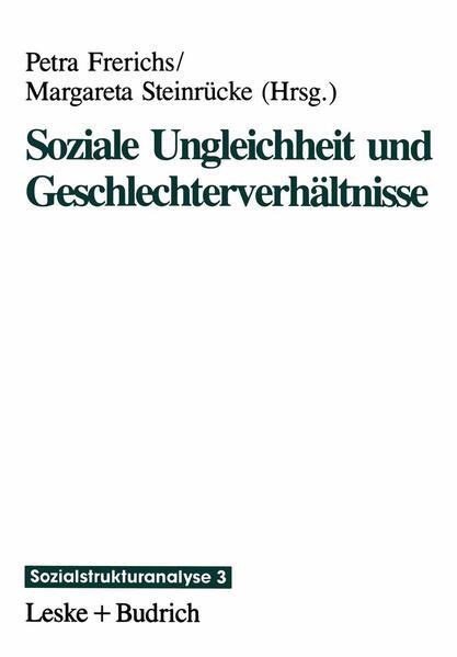 Soziale Ungleichheit und Geschlechterverhältnisse - Coverbild