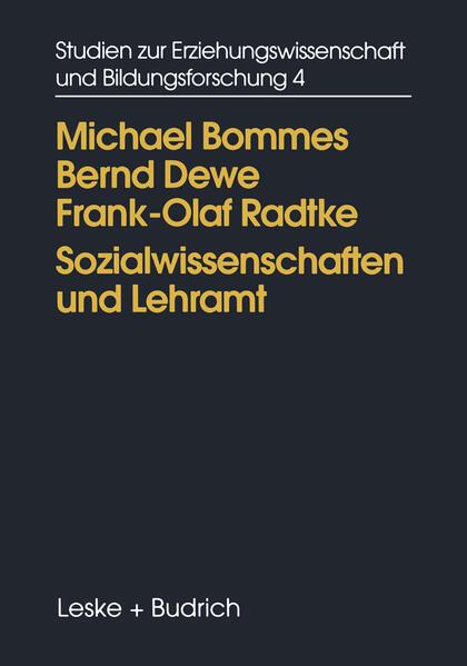 Sozialwissenschaften und Lehramt - Coverbild