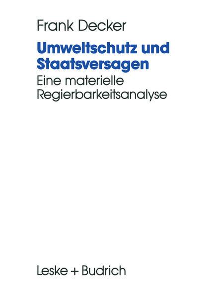 Umweltschutz und Staatsversagen - Coverbild
