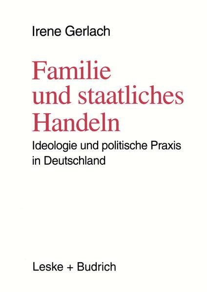 Familie und staatliches Handeln - Coverbild