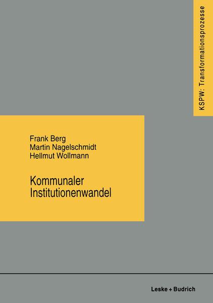 Kommunaler Institutionenwandel - Coverbild
