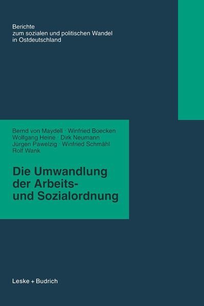 Die Umwandlung der Arbeits- und Sozialordnung - Coverbild