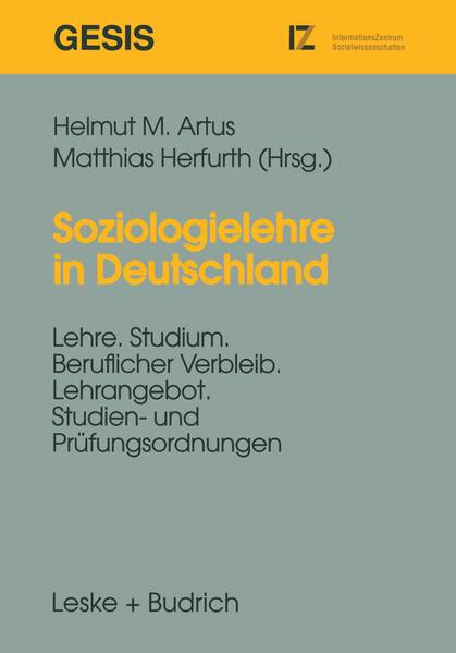 Soziologielehre in Deutschland - Coverbild