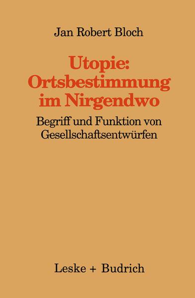 Utopie: Ortsbestimmungen im Nirgendwo - Coverbild