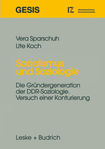 Sozialismus und Soziologie - Coverbild