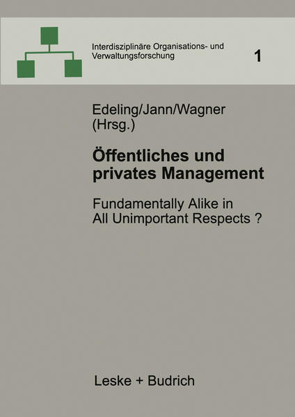 Öffentliches und privates Management - Coverbild