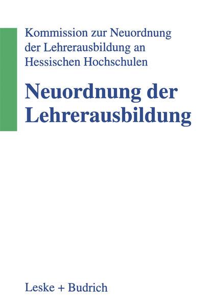 Neuordnung der Lehrerausbildung - Coverbild
