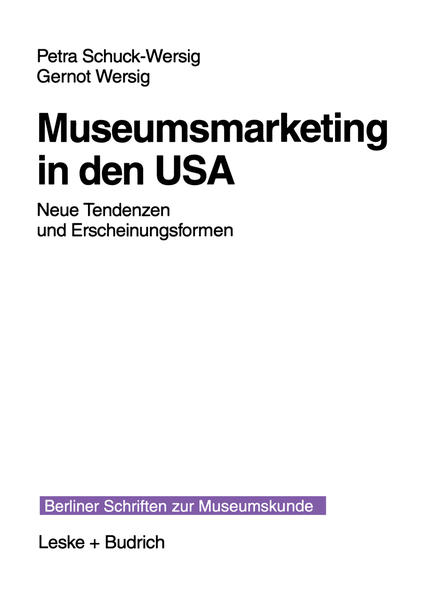 Museumsmarketing in den USA - Coverbild