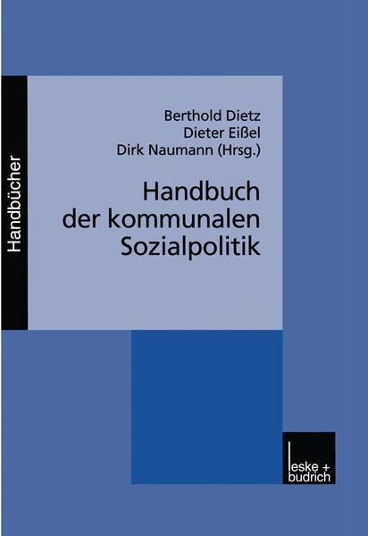 Handbuch der kommunalen Sozialpolitik - Coverbild