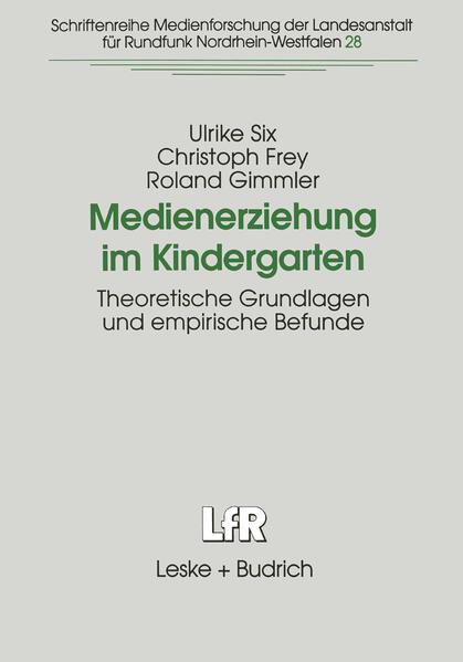 Medienerziehung im Kindergarten - Coverbild
