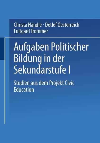 Aufgaben politischer Bildung in der Sekundarstufe I - Coverbild
