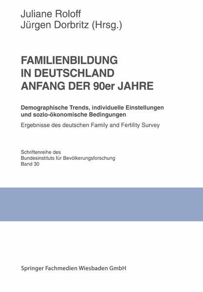 Familienbildung in Deutschland Anfang der 90er Jahre - Coverbild