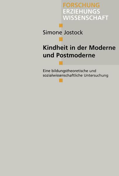 Kindheit in der Moderne und Postmoderne - Coverbild