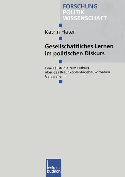 Gesellschaftliches Lernen im politischen Diskurs - Coverbild