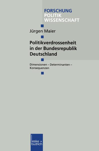 Politikverdrossenheit in der Bundesrepublik Deutschland - Coverbild